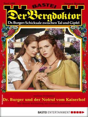 cover image of Der Bergdoktor 1998--Heimatroman
