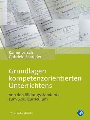 cover image of Grundlagen kompetenzorientierten Unterrichtens