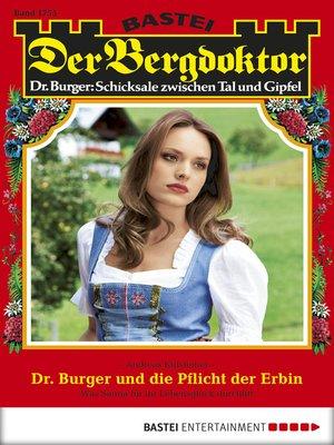 cover image of Der Bergdoktor--Folge 1755