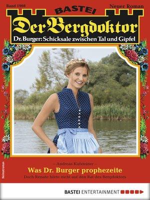 cover image of Der Bergdoktor 1908--Heimatroman
