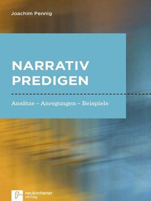 cover image of Narrativ predigen