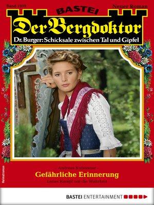 cover image of Der Bergdoktor 1939--Heimatroman