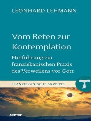 cover image of Vom Beten zur Kontemplation