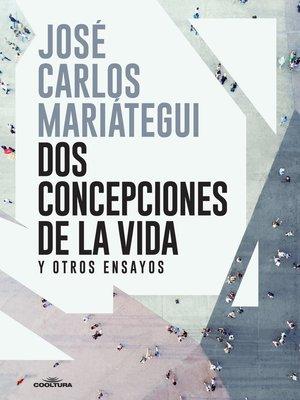 cover image of Dos concepciones de la vida