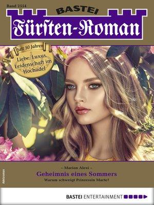 cover image of Fürsten-Roman 2554--Adelsroman