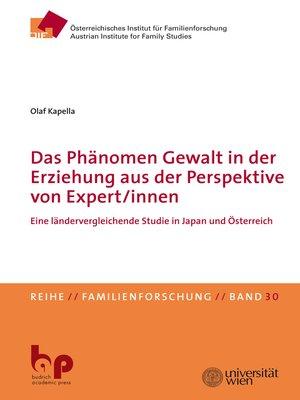 cover image of Das Phänomen Gewalt in der Erziehung aus der Perspektive von Expert/innen