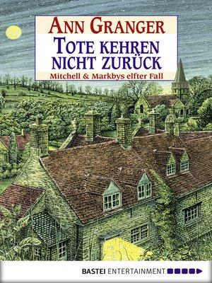 cover image of Tote kehren nicht zurück