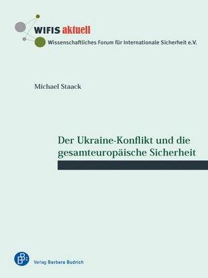 cover image of Der Ukraine-Konflikt und die gesamteuropäische Sicherheit