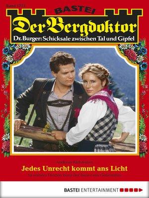cover image of Der Bergdoktor--Folge 1753