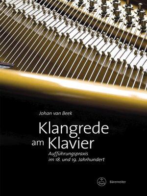 cover image of Klangrede am Klavier