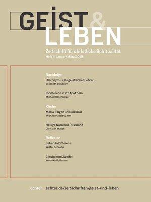 cover image of Geist & Leben 1/2019