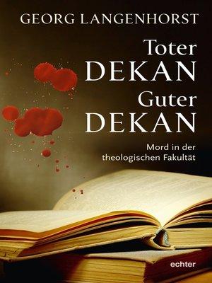 cover image of Toter Dekan--guter Dekan