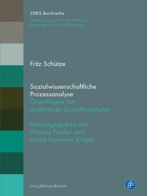 cover image of Sozialwissenschaftliche Prozessanalyse
