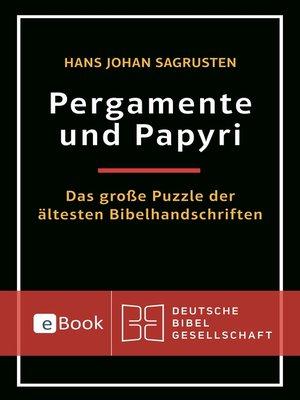 cover image of Pergamente und Papyri