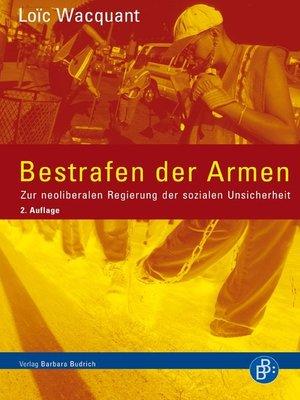 cover image of Bestrafen der Armen