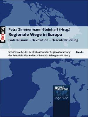 cover image of Regionale Wege in Europa