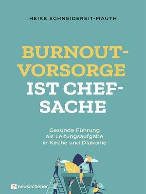 cover image of Burnoutvorsorge ist Chefsache
