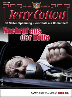 cover image of Jerry Cotton Sonder-Edition 66--Krimi-Serie
