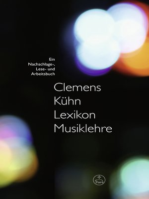 cover image of Lexikon Musiklehre