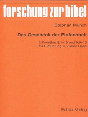 cover image of Das Geschenk der Einfachheit