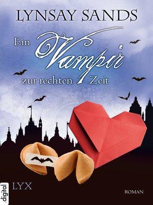 cover image of Ein Vampir zur rechten Zeit