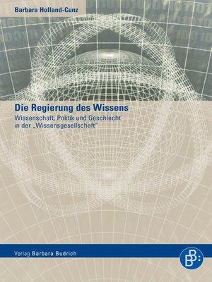 cover image of Die Regierung des Wissens