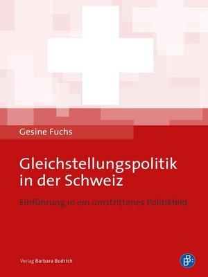 cover image of Gleichstellungspolitik in der Schweiz