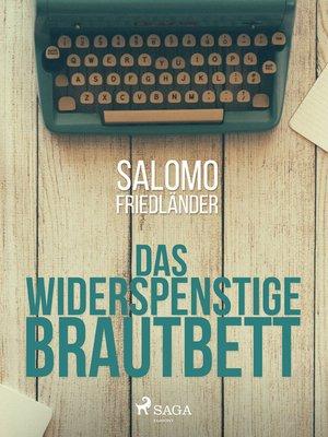 cover image of Das widerspenstige Brautbett