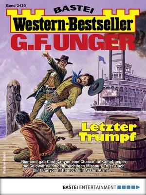 cover image of G. F. Unger Western-Bestseller 2435--Western
