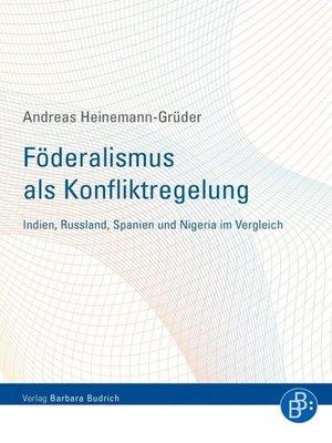cover image of Föderalismus als Konfliktregelung