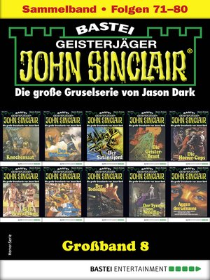 cover image of John Sinclair Großband 8--Horror-Serie
