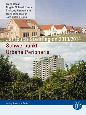 cover image of Jahrbuch StadtRegion 2013/2014
