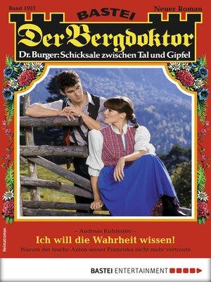 cover image of Der Bergdoktor 1927--Heimatroman