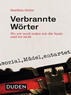 cover image of Verbrannte Wörter