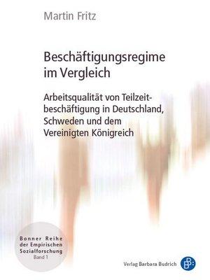 cover image of Beschäftigungsregime im Vergleich