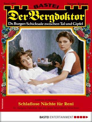 cover image of Der Bergdoktor 1992--Heimatroman