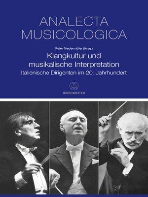 cover image of Klangkultur und musikalische Interpretation
