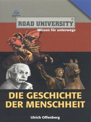 cover image of Die Geschichte der Menschheit
