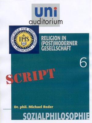 cover image of Sozialphilosophie, Teil 6