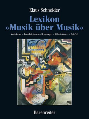"cover image of Lexikon ""Musik über Musik"""