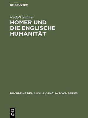 cover image of Homer und die englische Humanität