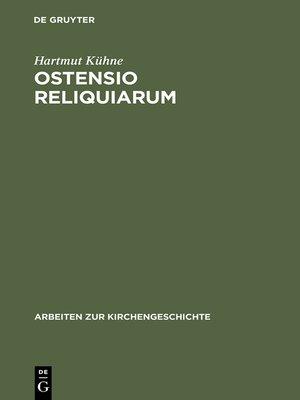cover image of Ostensio reliquiarum