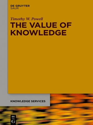 cover image of The Value of Knowledge