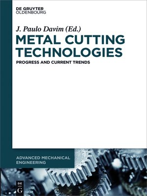 cover image of Metal Cutting Technologies