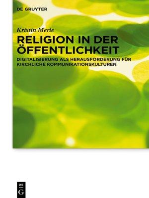 cover image of Religion in der Öffentlichkeit