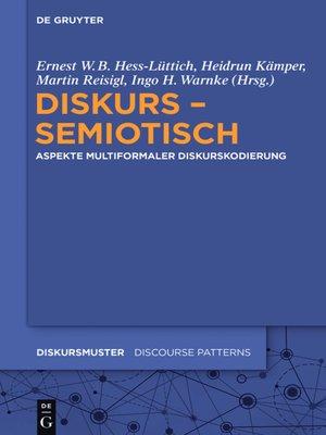 cover image of Diskurs--semiotisch