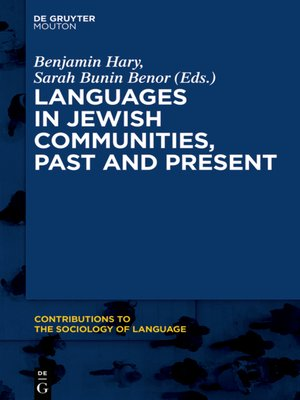 cover image of Languages in Jewish Communities, Past and Present