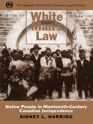 cover image of White Man's Law