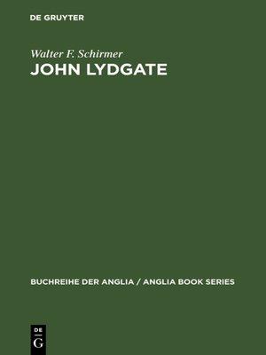cover image of John Lydgate