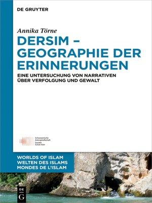 cover image of Dersim – Geographie der Erinnerungen